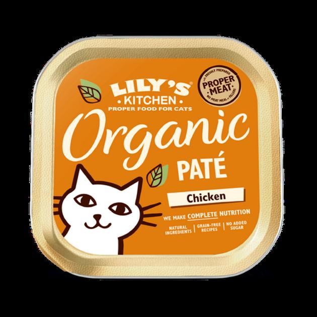 Lily's Kitchen ökoloogiline täistoit kassidele kanaga 85g