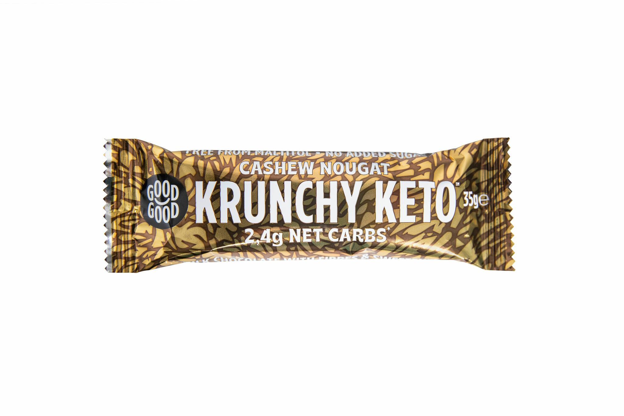 Good Good krõpsuv india pähklimaitseline KETO šokolaadibatoon35g