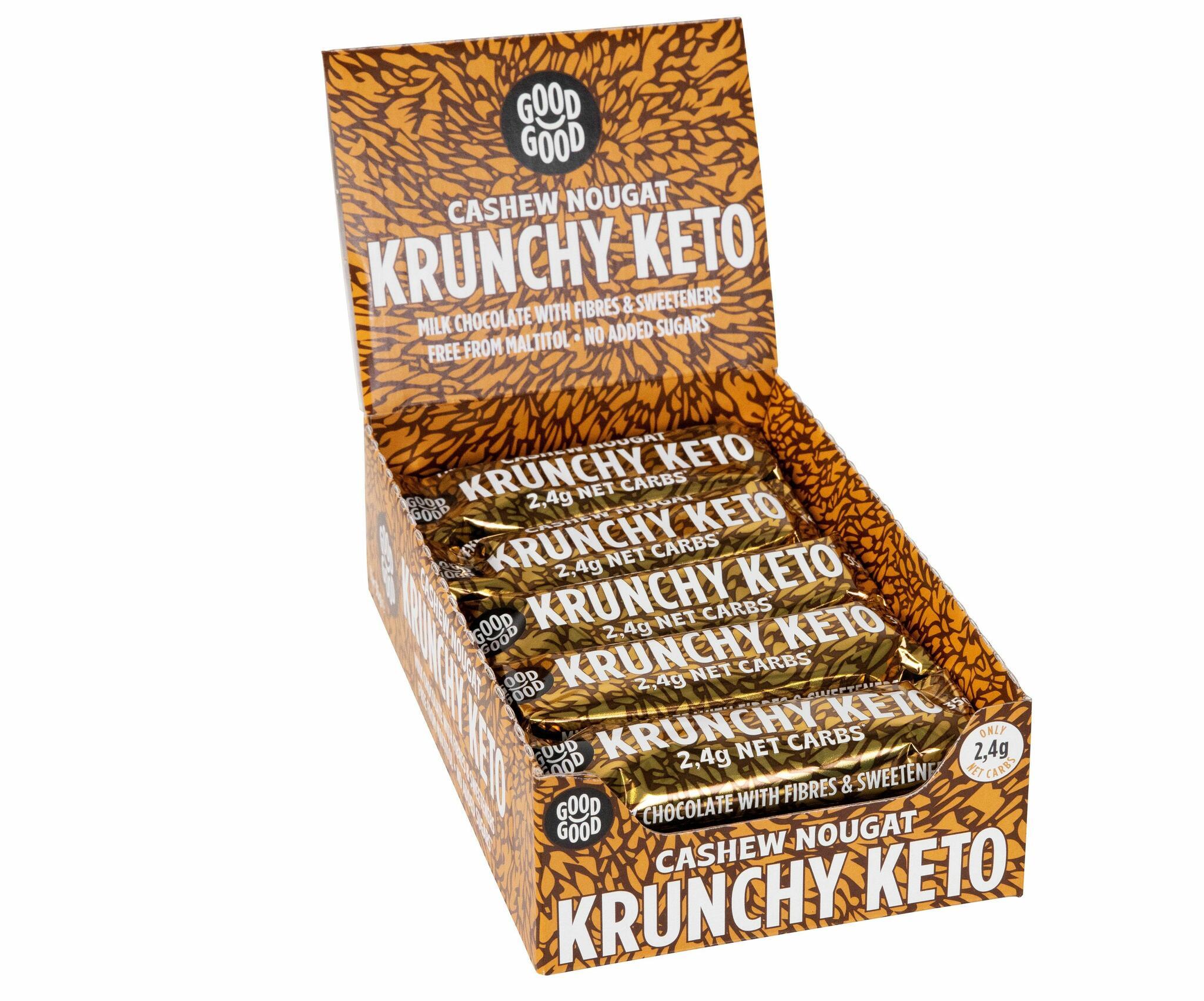 Good Good krõpsuv india pähklimaitseline KETO šokolaadibatoon35g (15 tk KARBIS)
