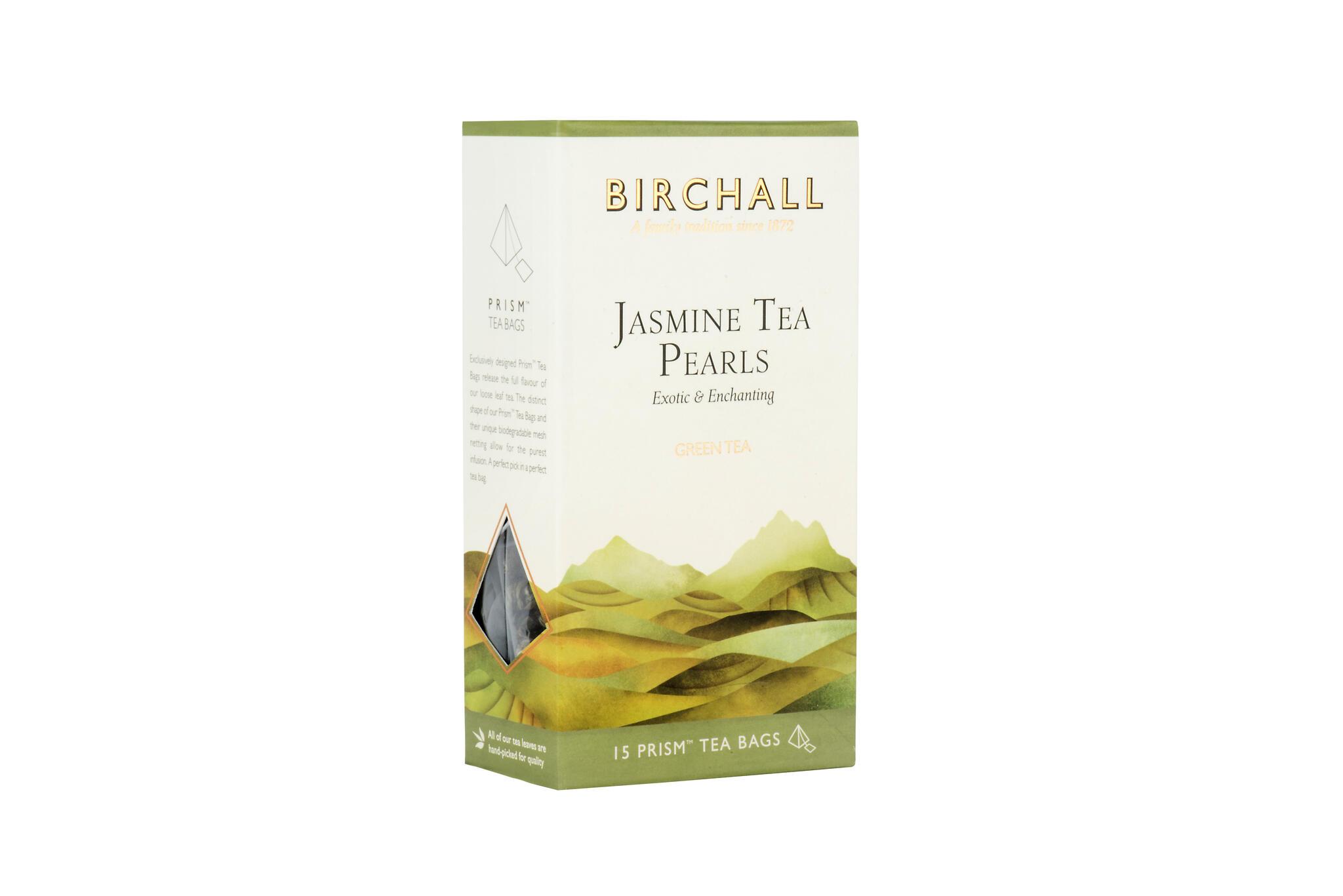 """Roheline tee jasmiiniga """"Jasmiini tee pärlid"""" 37,5g (15pk x 2,5g püramiidpakid)"""