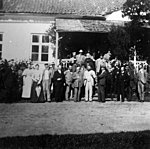 1897: participants of the field-excursion at the Kukruse Manor house