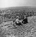 Friedrich Schmidt with companions on Suhkrumägi hill in 1897