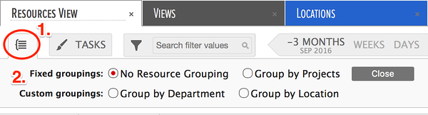 Resource grouping by custom data