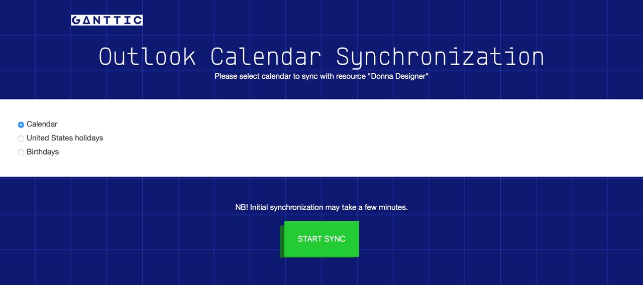 Sync Gantt Charts To Outlook Calendar Ganttic