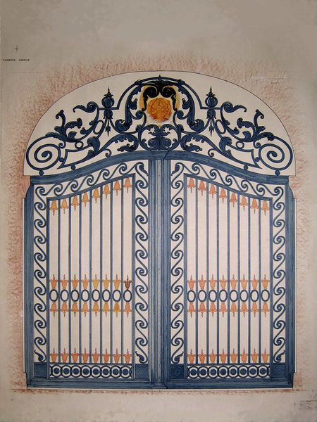 A design for the gates of the Toompea castle in Tallinn, 1981