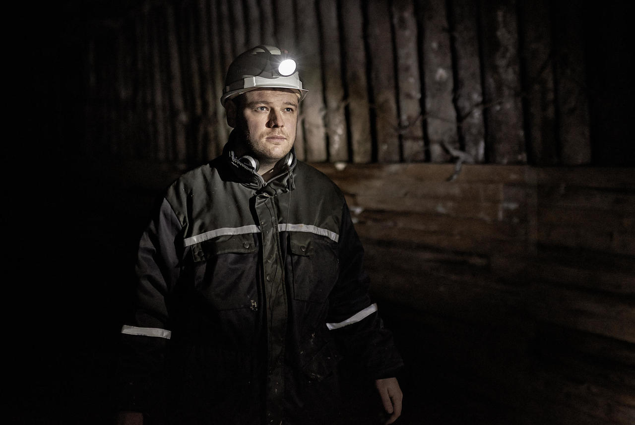 """Miner"" an exhibition of photographs by Kaupo Kikkas"