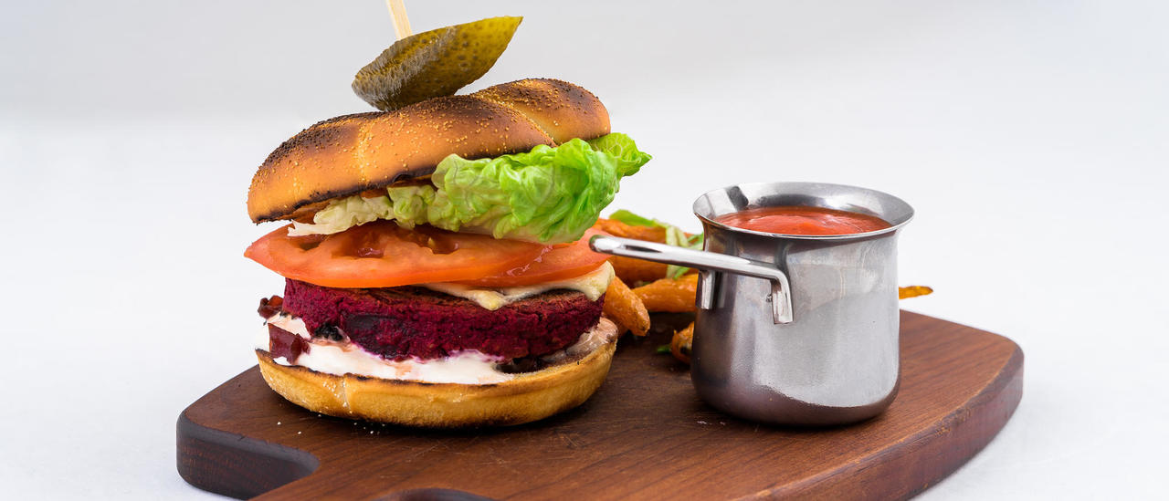 Mouthwatering vegan burger