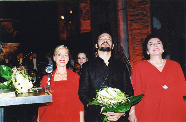Angelika Mikk, Gianni Botta and Ewa Podleś