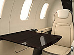 Learjet 75 table open