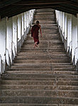 a novice on his way to the temple, Thaton, Myanmar