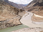 Indus and Zanskar rivers merging