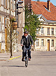 cycling in Kuldiga, Latvia