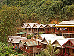 tourist bungalows in Nong Khiaw