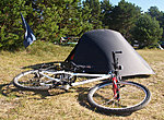 campsite in the morning