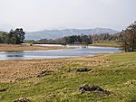 Wise Een Tarn with Langdale Pikes in the background