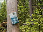 a book on a hiking trail