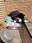 dish washing in Kharanaq village
