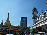 Sule pagoda and Bengali mosque