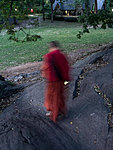 a ghost-monk in Central Park