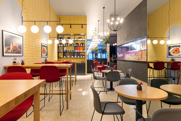 Restoran Da Vinci, T1 Mall Tallinn / disain: Ace of Space