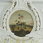 "The mural painting of the rose in the Kadriorg Great Hall ""Juncta arma decori"". 18 century. Photo Stanislav Stepashko"