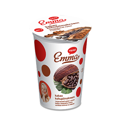 Emma curd cream with cocoa