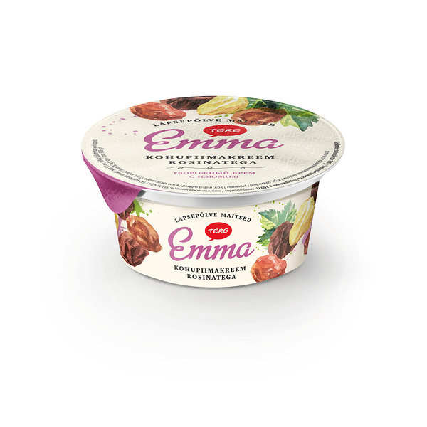Emma curd cream with raisins