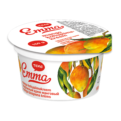 Emma curd cream with mango