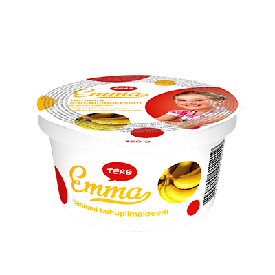 Emma curd cream with banana