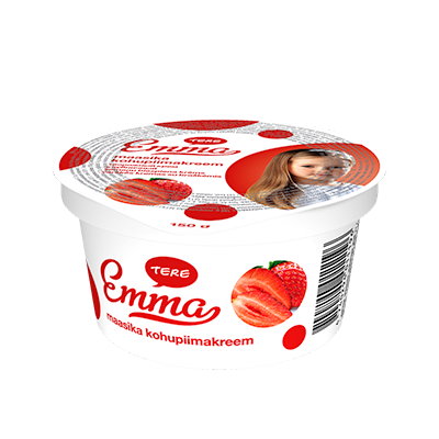 Emma curd cream with strawberry