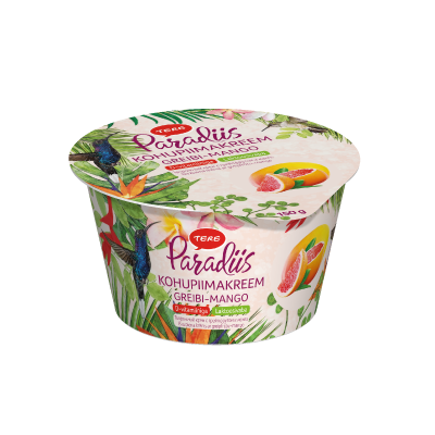 """Paradiis"" curd cream with grapefruit and mango 150 g. Lactose free. With vitamin D."