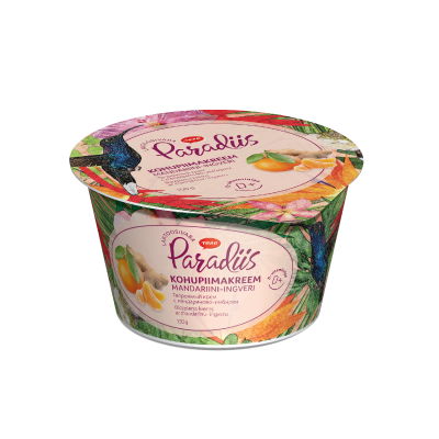 """Paradise"" curd cream with mandarin and ginger"