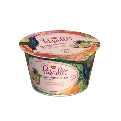 """Paradise"" curd cream with passion fruit"