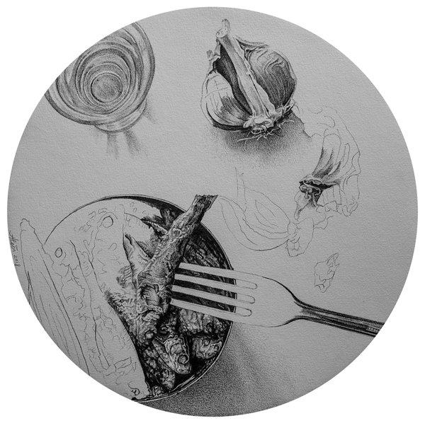 Memories X. Graphite, diameter 30cm, 2018