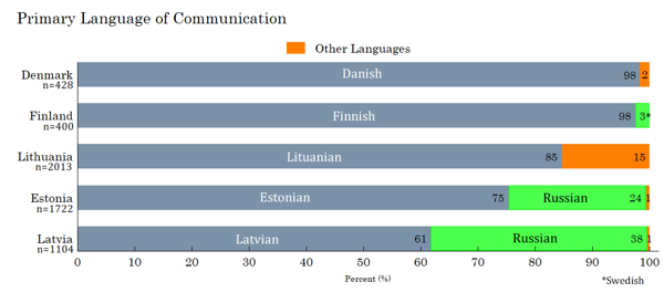 Figure 2. Main language of communication