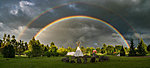 2017; double rainbow at the Flower of Life Park; photo: Jüri Joost