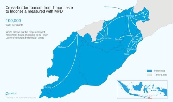 Cross-border tourism from Timor Leste to Indonesia based on MPD