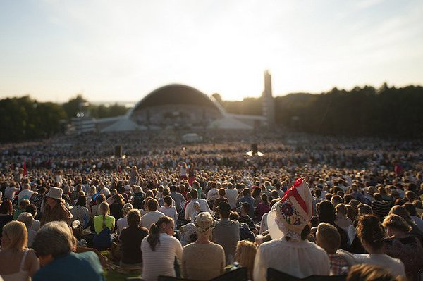 Crowds at the 2017 Song Festival in Tallinn. Source: Jaanus Ree