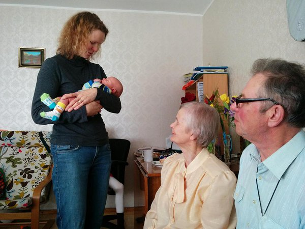 Eeva becaoming an aunt for the second time and greeting the new addition to the family (2015)