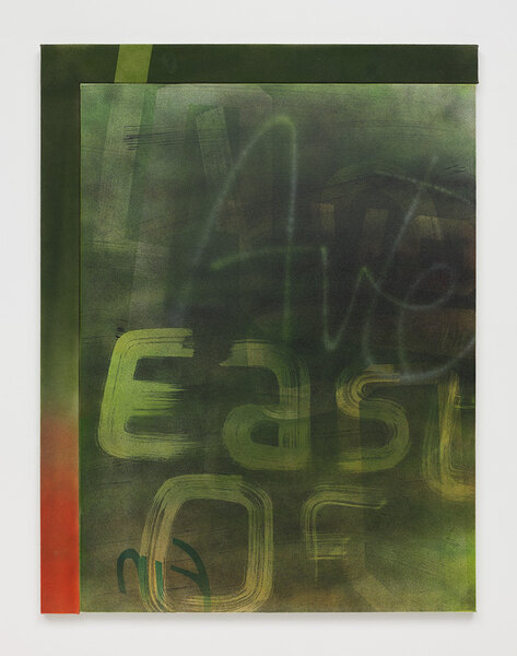 East of Avenue D, 2013, acrylic on canvas, acrylic on canvas over wood artist's frame, 51 1/2 x 39 1/2 inches
