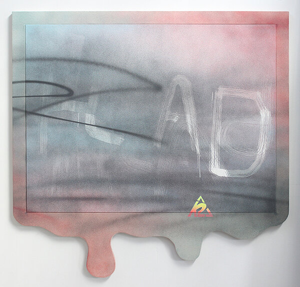 K2, 2015, acrylic on canvas, acrylic on canvas over wood artist's frame, 51 x 53 inches