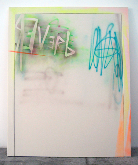 Reverb, 2009, acrylic on canvas, acrylic on canvas over wood artist's frame, 71 1/2 x 61 1/4 inches