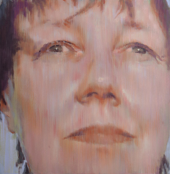 Sungazing. Sandra. 2015. Acrylic on canvas, 100 X 100 CM