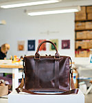 brownleather briefcase stella soomlais
