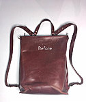 leather bag before care and cleaning