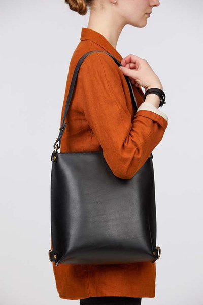 leather backpack as shoulder bag stella soomlais estonian design