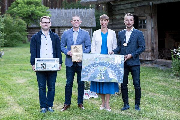 Overall winner of the contest - Arca Nova Element OÜ. Photo: Kaie Kiil/Estonian Woodhouse Association