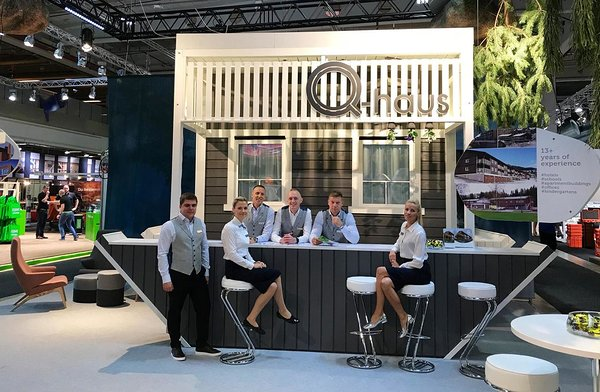 Q-haus team at Bygg Reis Deg 2017 fair. Photo: Q-haus Baltic OÜ