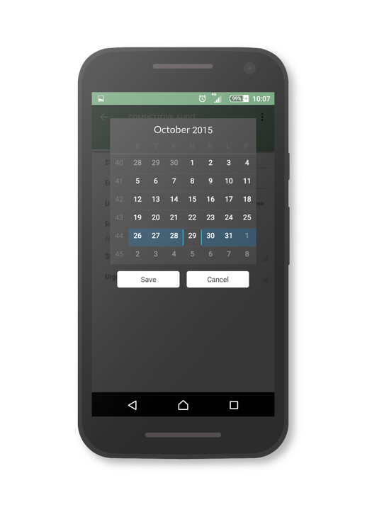 ganttic mobile app calendar