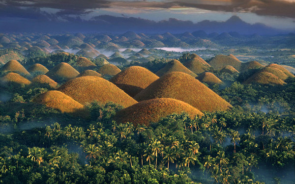 view on the chocolate hills